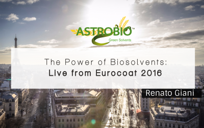 The Power of Biosolvents: Live From Eurocoat 2016